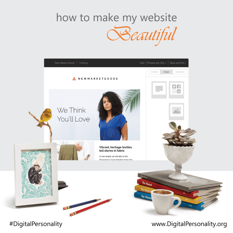 how to make my website beautiful