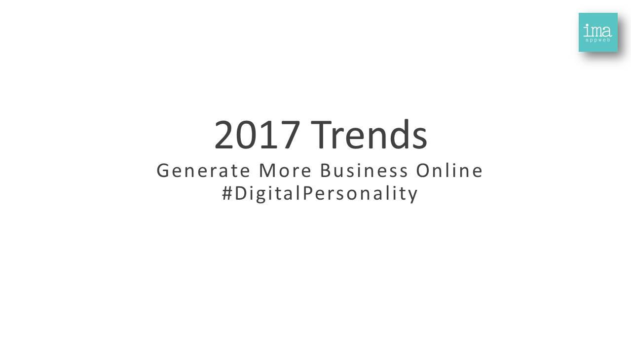 Digital Marketing Trends 2017